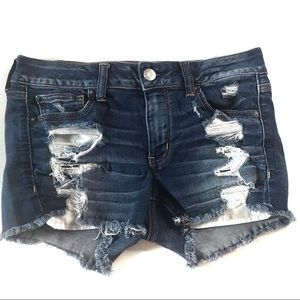 American Eagle Distressed Super Stretch Shorts 10